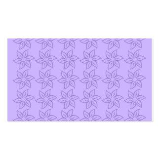 Estampado de plores rizado - violeta en violado tarjeta de visita