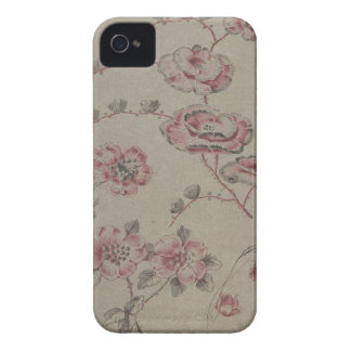 Estampado de plores rosado - francés carcasa para iPhone 4