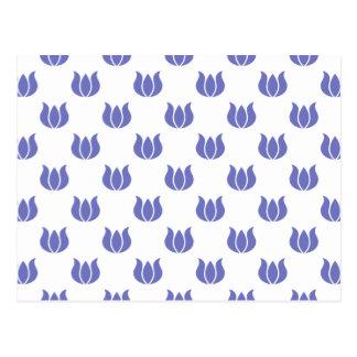Estampado de plores violeta 5 del tulipán postal