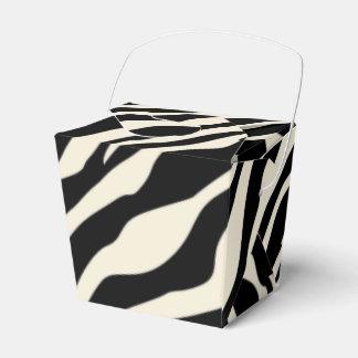 Estampado de zebra adaptable cajas para detalles de boda