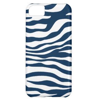 Estampado de zebra azul de medianoche oscuro