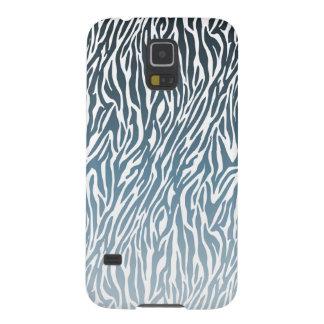 Estampado de zebra azul salvaje Ombre Funda Para Galaxy S5