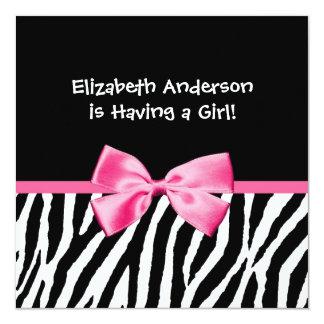 Estampado de zebra de moda y fiesta de bienvenida invitación 13,3 cm x 13,3cm