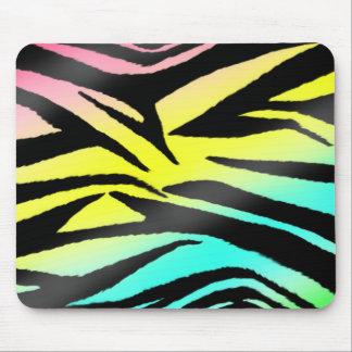 Estampado de zebra de neón Mousepad