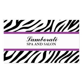 Estampado de zebra elegante del balneario del tarjetas de visita