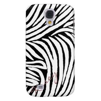 Estampado de zebra inspirado samsung galaxy s4 cover