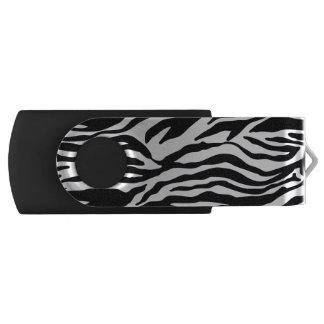 Estampado de zebra memoria USB