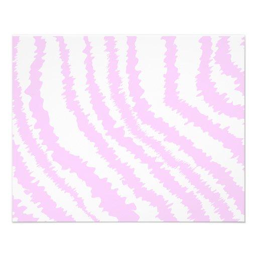 Estampado de zebra rosado, modelo animal tarjeta publicitaria