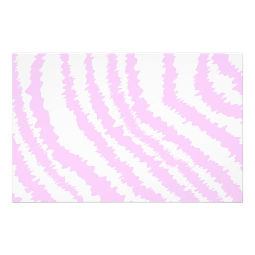 Estampado de zebra rosado, modelo animal flyer personalizado