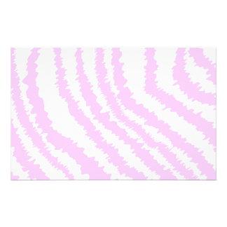 Estampado de zebra rosado, modelo animal folleto 14 x 21,6 cm
