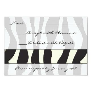 Estampado de zebra RSVP Invitación 8,9 X 12,7 Cm
