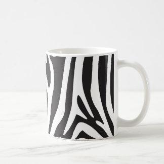 Estampado de zebra taza de café