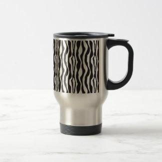 Estampado de zebra taza de viaje