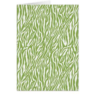 Estampado de zebra verde del safari tarjeta