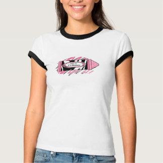 Estampado de zebra y del creyón camisa rosada del