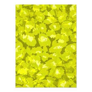 Estampado leopardo amarillo de oro invitación 13,9 x 19,0 cm