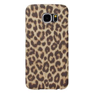 Estampado leopardo animal lindo de la piel fundas samsung galaxy s6