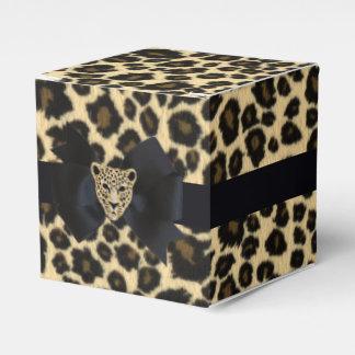 Estampado leopardo caja para regalos de fiestas