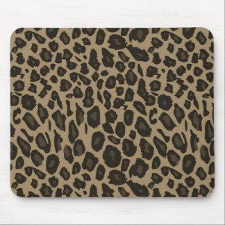 Estampado leopardo de Brown Alfombrilla De Ratón