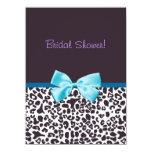 Estampado leopardo de moda y ducha nupcial de Blue Invitaciones Personales