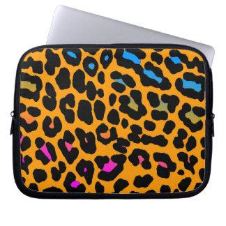Estampado leopardo del neón del tigre 80s de Corey Fundas Computadoras