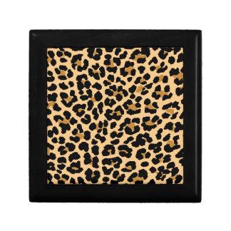 Estampado leopardo elegante cajas de recuerdo