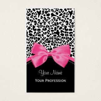 Estampado leopardo elegante de la moda con la tarjeta de negocios