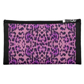 Estampado leopardo estuche de maquillaje de ante