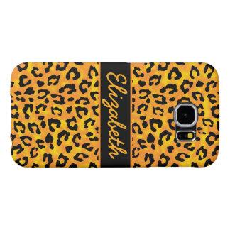 Estampado leopardo personalizado funda samsung galaxy s6