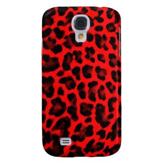 Estampado leopardo rojo samsung galaxy s4 cover