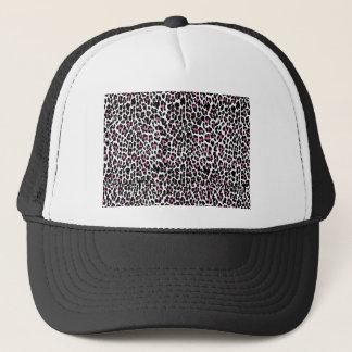estampado leopardo rosado gorra de camionero