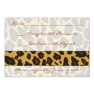 Estampado leopardo RSVP Invitación 8,9 X 12,7 Cm