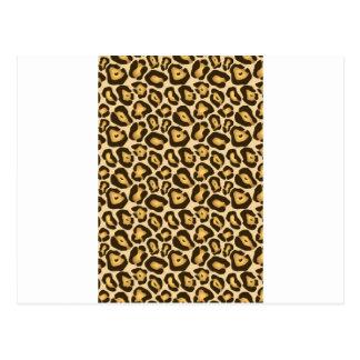 Estampado leopardo postal