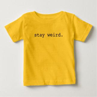 estancia extraña camiseta de bebé