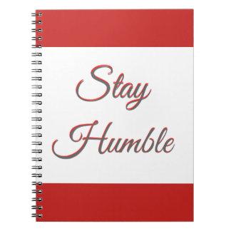 Estancia humilde - cuaderno