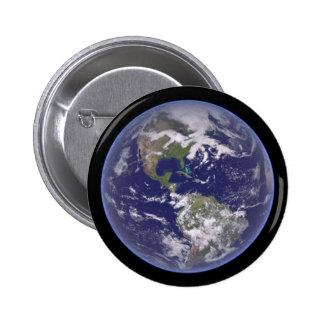 Estándar de la tierra del planeta, botón redondo