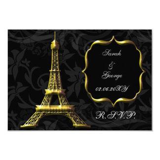 estándar francés 3,5 x 5 del rsvp de la torre invitación 8,9 x 12,7 cm