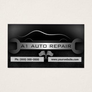 Estándar móvil del negro de la reparación auto del tarjeta de visita