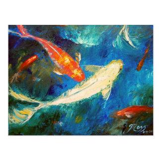 Regalos pintura del estanque de peces del koi camisetas for Estanque peces koi