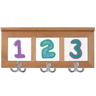 Estante de la capa de los números colgador para abrigos