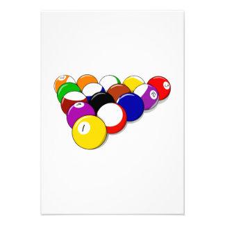 Estante de las bolas de piscina comunicados