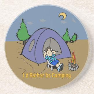 Estaría acampando bastante - costa de la piedra ar posavasos manualidades
