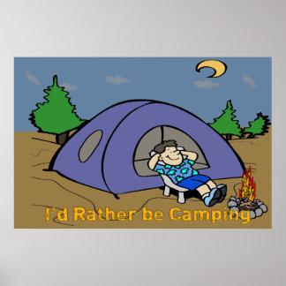 """Estaría acampando bastante - la escena 36"""" del póster"""