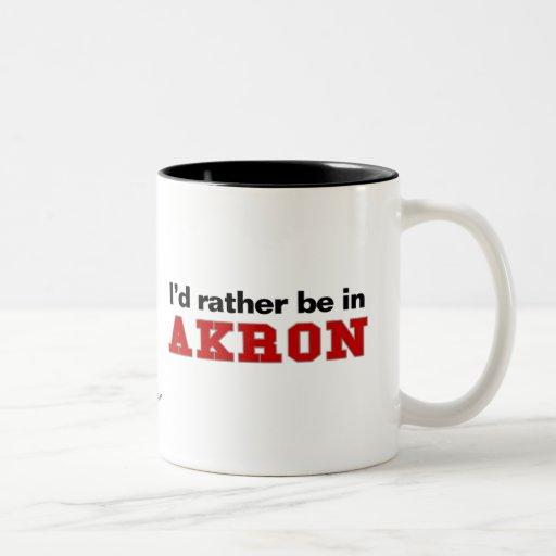 Estaría bastante en Akron Taza De Café