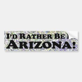 Estaría bastante en Arizona - pegatina para el par Pegatina Para Coche