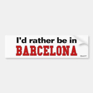 Estaría bastante en Barcelona Pegatina Para Coche