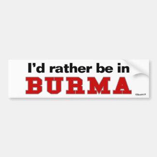 Estaría bastante en Birmania Pegatina Para Coche