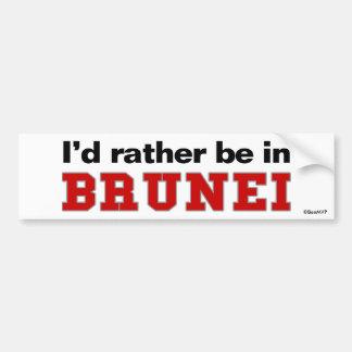 Estaría bastante en Brunei Pegatina Para Coche
