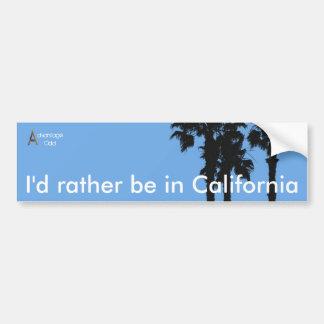 Estaría bastante en California Pegatina Para Coche