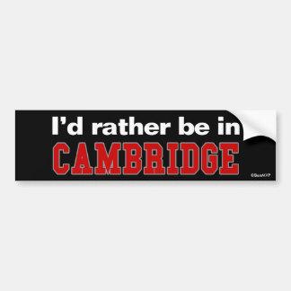 Estaría bastante en Cambridge Pegatina Para Coche